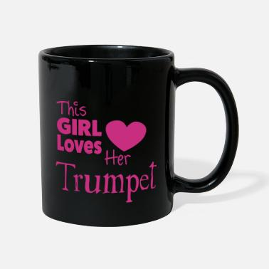 This Girl Loves Her Trumpet - Ensfarvet krus