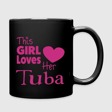 This Girl Loves Her Tuba - Taza de un color
