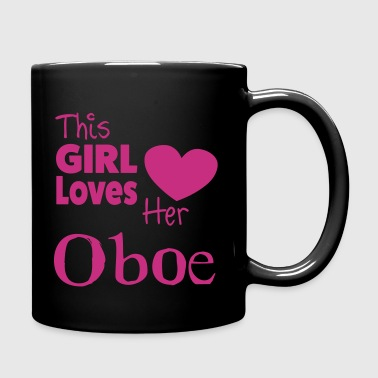 This Girl Loves Her Oboe - Taza de un color