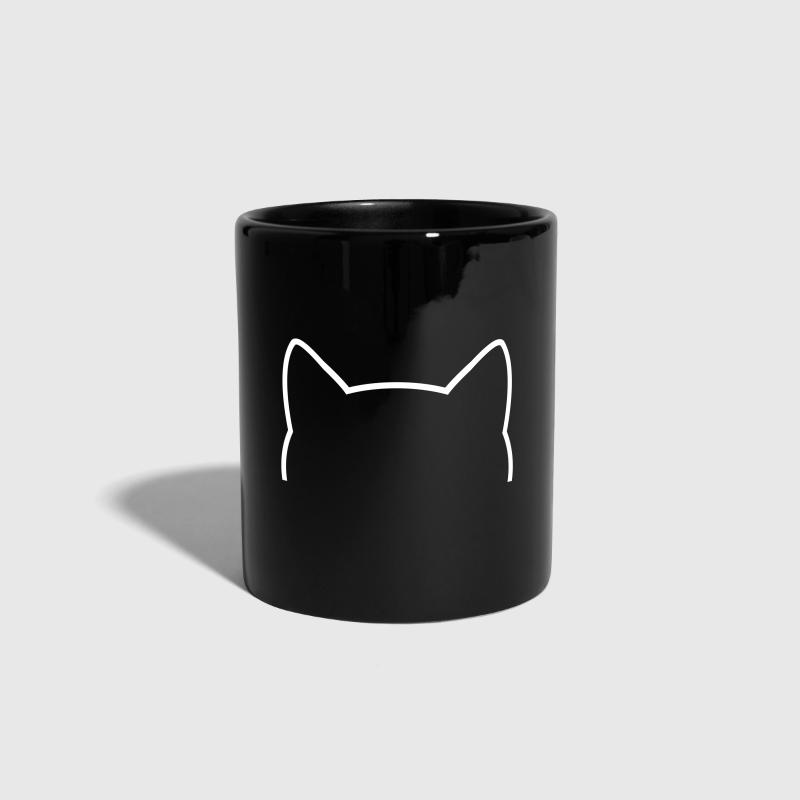 Cat Icon Outline - Full Colour Mug