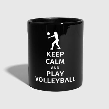 keep calm and play volleyball - Tazza monocolore