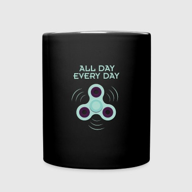 Spinner - all day, every day - Tasse einfarbig