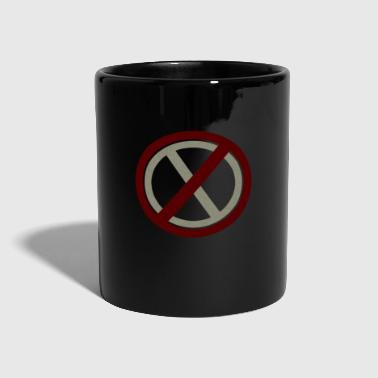 Prohibited Prohibitions prohibit warning signs and signs - Full Colour Mug