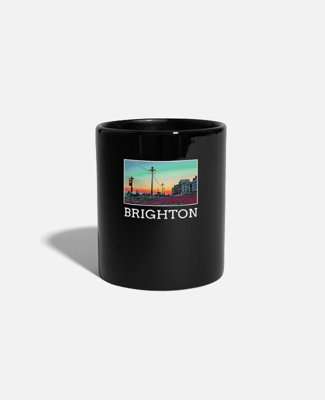 Trip Mugs & Drinkware - Brighton city souvenir souvenir holiday skyline - Mug black