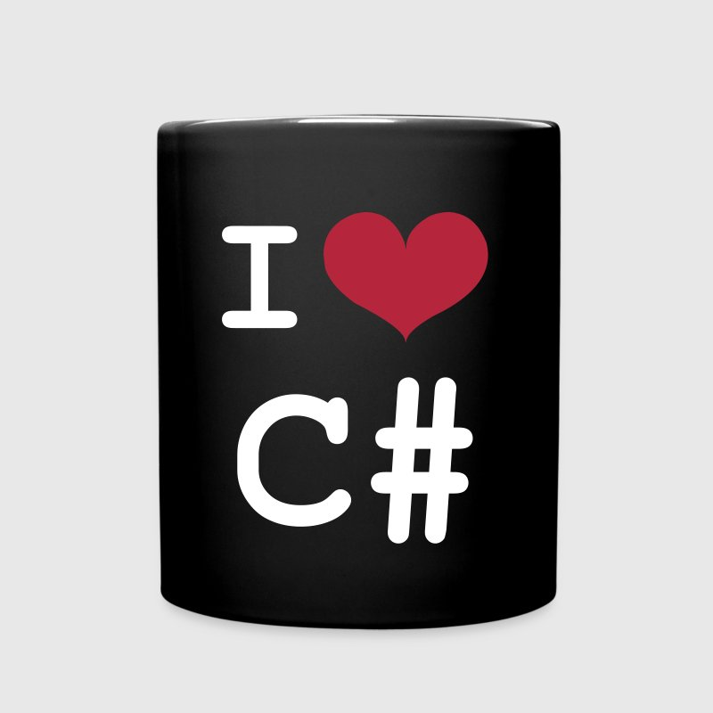 I Love C# [Developer / Geek] - Taza de un color
