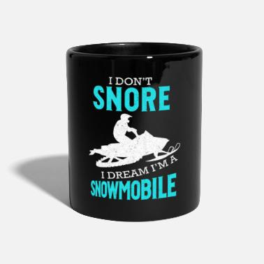 Snore Snoring Shirt - Snoring Snore Snowmobile Dream - Mug