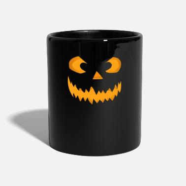Scary Halloween pumpkin face - Mug