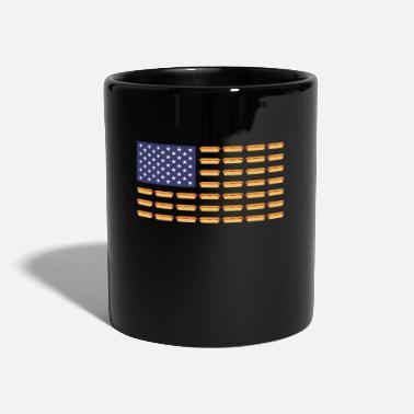America Hot America flag hot dogs - Mug