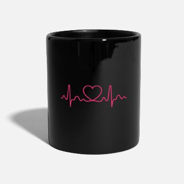 First Heartbeat Heart Rate Pulse Gift Idea - Mug