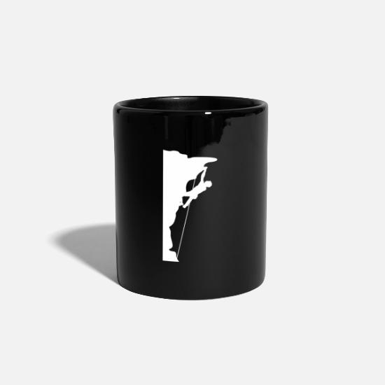 Climbing Mugs & Drinkware - Mountaineering, climbing, rock wall, rock climbing - Mug black