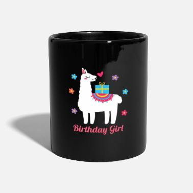 Morning Birthday Girl Lama Animal Lover Gift Idea - Mug