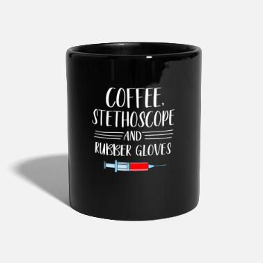Womens Coffee stethoscope rubber gloves nurse - Mug