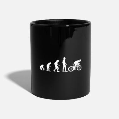 Rad Cooles Biker Evolutions T-Shirt Motiv weiß - Tasse