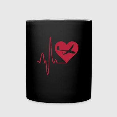 heartbeat gliding glider pilot - Full Colour Mug