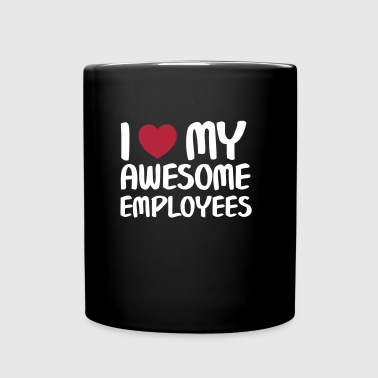 I Heart My Awesome Employees - Enfärgad mugg