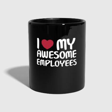 I Heart My Awesome Employees - Ensfarvet krus