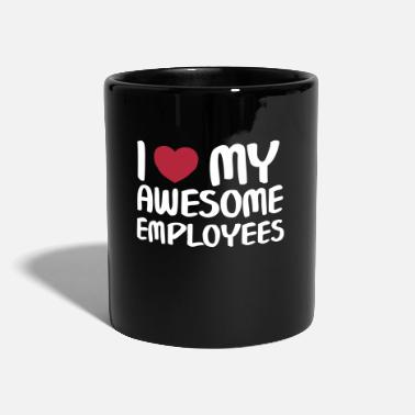 Rolig I Heart My Awesome Employees - Enfärgad mugg