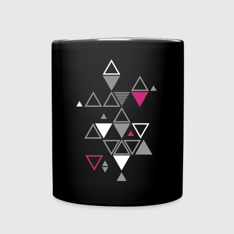 motif graphique de triangles - Mug uni
