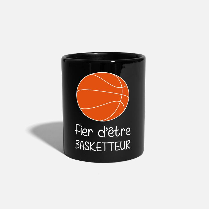 Sports Mugs et gourdes - Fier d'être Basketteur / Basketball / Basket ball - Mug noir
