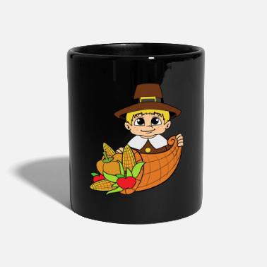 Thanksgiving Thanksgiving Thanksgiving Pumpkin Pilgrim Thanksgiving - Taza de un color