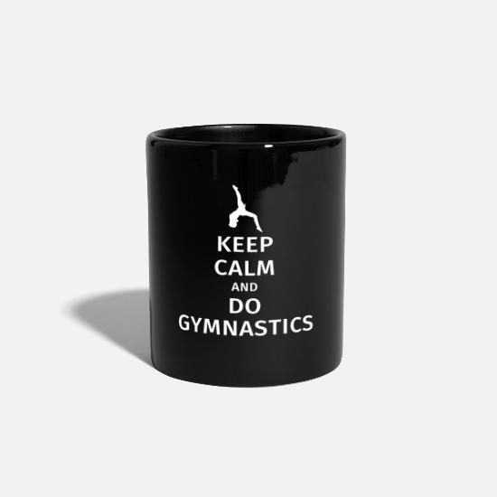 Gymnastik Muggar & tillbehör - keep calm and do gymnastics - Mugg svart