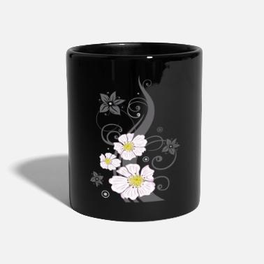 Tendril with wild roses and flowers. Summer. - Mug