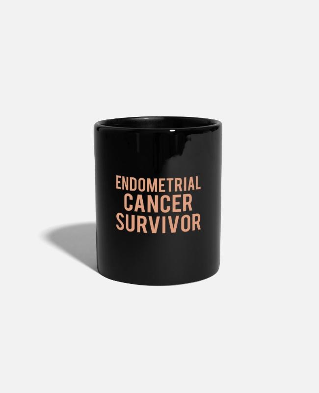 Ribbons Mugs & Drinkware - Endometrial Cancer: Endometrial Cancer Survivor - Mug black