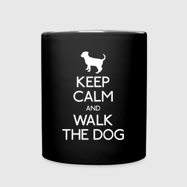 Keep Calm and walk the dog - Yksivärinen muki