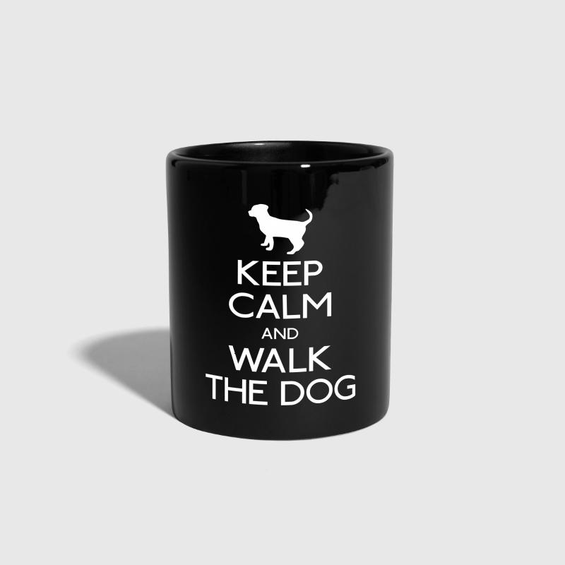 Keep Calm and walk the dog - Full Colour Mug