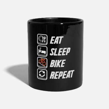 Sport Eat Sleep Bike Repeat - Tasse einfarbig
