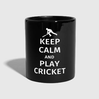 Calm keep calm and play cricket - Full Colour Mug