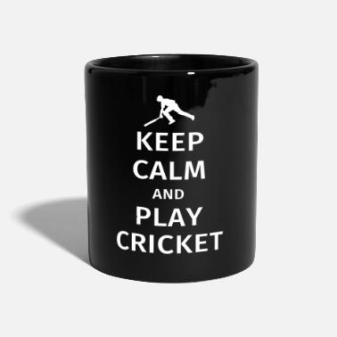 Cricket keep calm and play cricket - Full Colour Mug