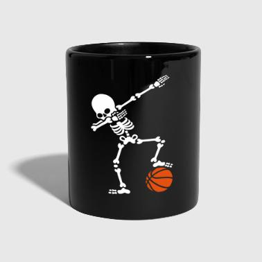 Baloncesto Dab dabbing skeleton football basketball - Taza de un color