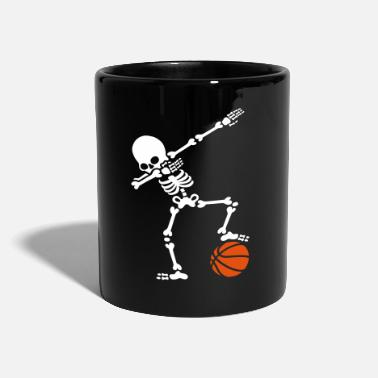 Juego De Pelota Dab dabbing skeleton football basketball - Taza de un color
