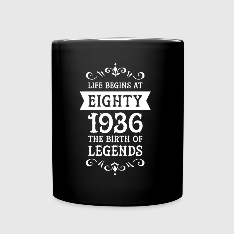 Life Begins At Eighty - 1936 The Birth Of Legends - Taza de un color