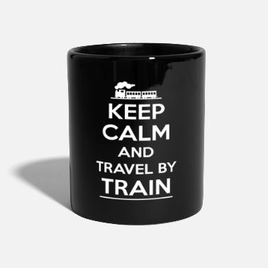 Travel Error KEEP CALM and TRAVEL by TRAIN - travel by train - Mug