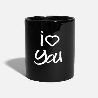 I Love You love you - Enfärgad mugg