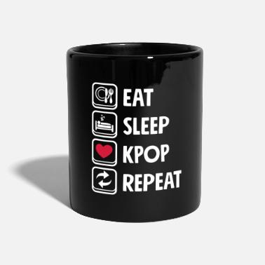 Korea Eat Sleep KPOP repeat - Tasse einfarbig