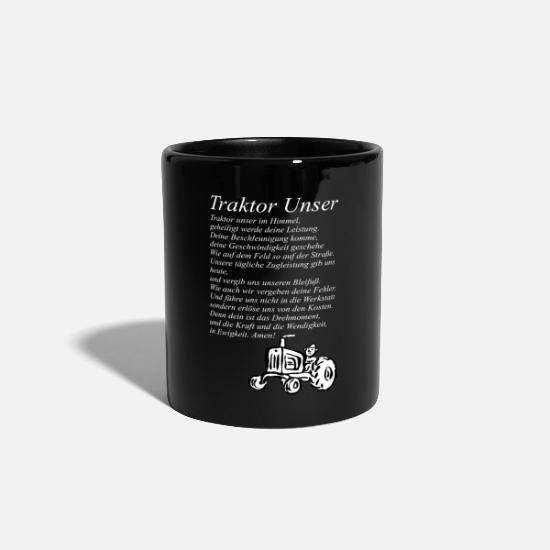 Tractor Mugs & Drinkware - Tractor Our tractor - Mug black