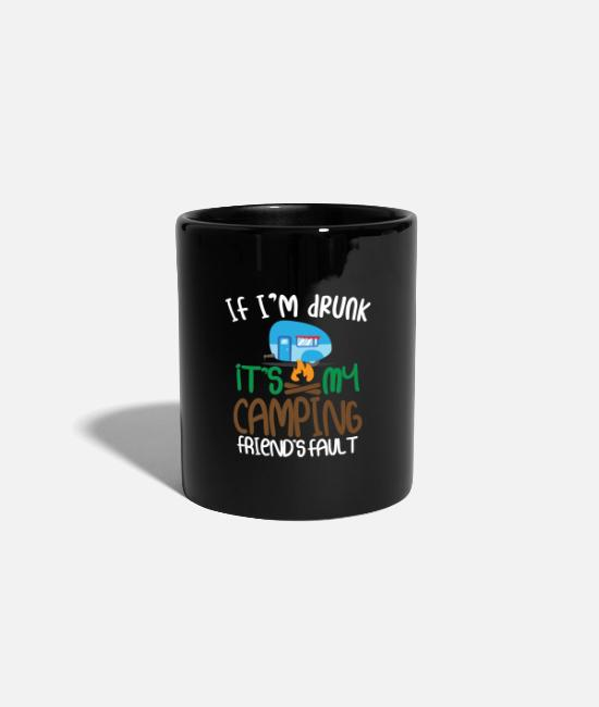 Mountains Mugs & Drinkware - It is my campsite - Mug black