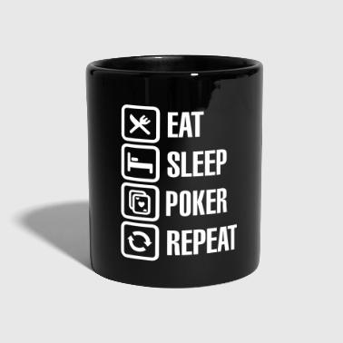 Holdem Eat - sleep - poker - repeat - Tazza monocolore