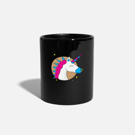 Birthday Mugs & Drinkware - pierced unicorn starlet Iroquois - Mug black