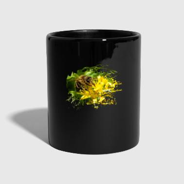 Bees pollinate plants and produce sweet honey - Full Colour Mug
