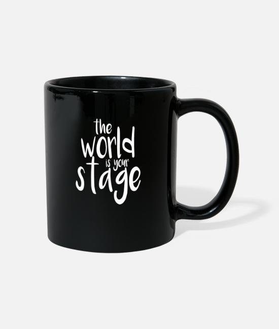 Festival Mugs & Drinkware - Great World Stage W Dance Shirt Gift Tee - Mug black