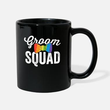 Lesbian Groom Squad Shirt LGBT Pride Gay Bachelor Wedding - Full Colour Mug