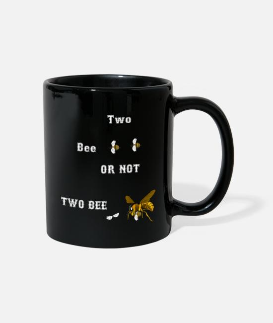 Imker Tassen & Becher - 2 Bee or not 2 Bee - Tasse Schwarz