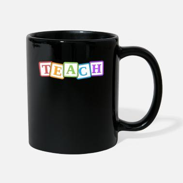 Tribe Teach Kindergarten Teacher Gift Letter Blocks - Mug