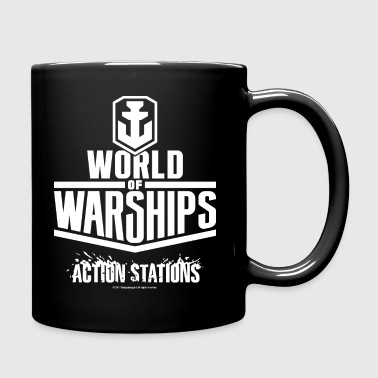 World of Warships White Logo Collection - Mug - Ensfarget kopp