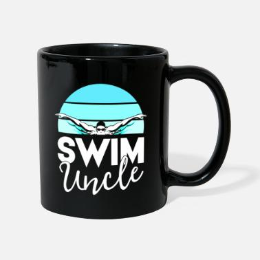 Meeting Swim Team Shirt Uncle School Swimming Meet - Mug