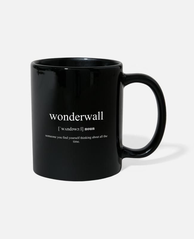 Dictionary Mugs & Drinkware - Wonderwall (protective wall) Black Edition - Mug black